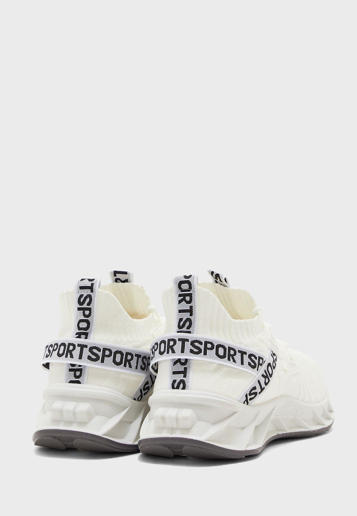 حذاء سنيكرز محبوك