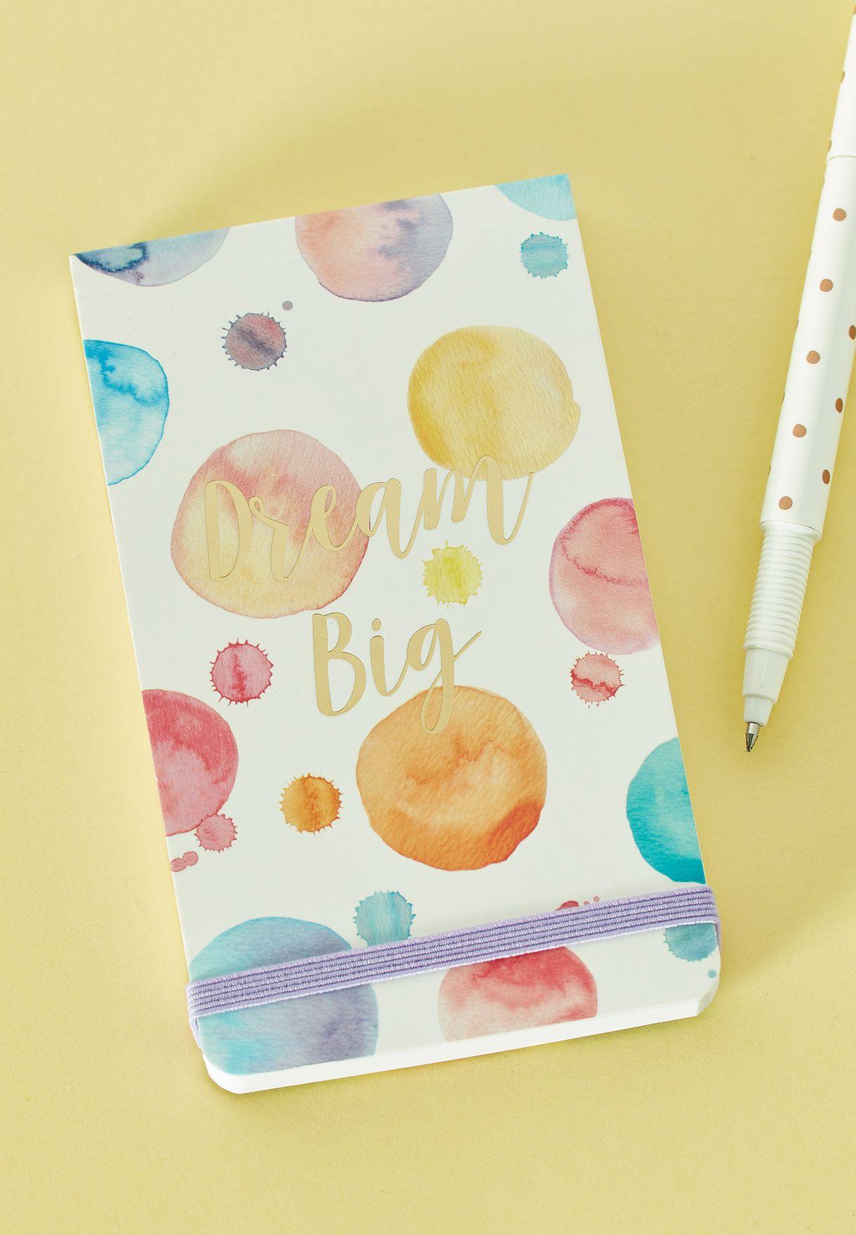 Dream Big Paint Splash Pocket Notepad