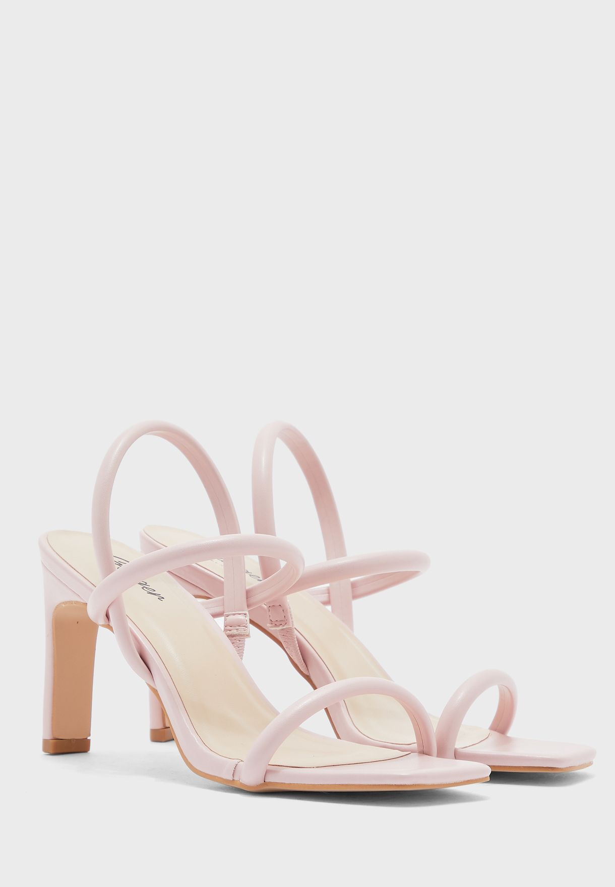 Thick Strappy Square Toe Sandal