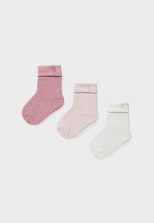Infant 3 Pack Assorted Socks