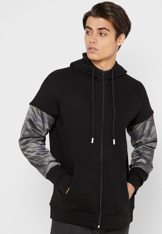 Nao Camo Zip Through Hoodie