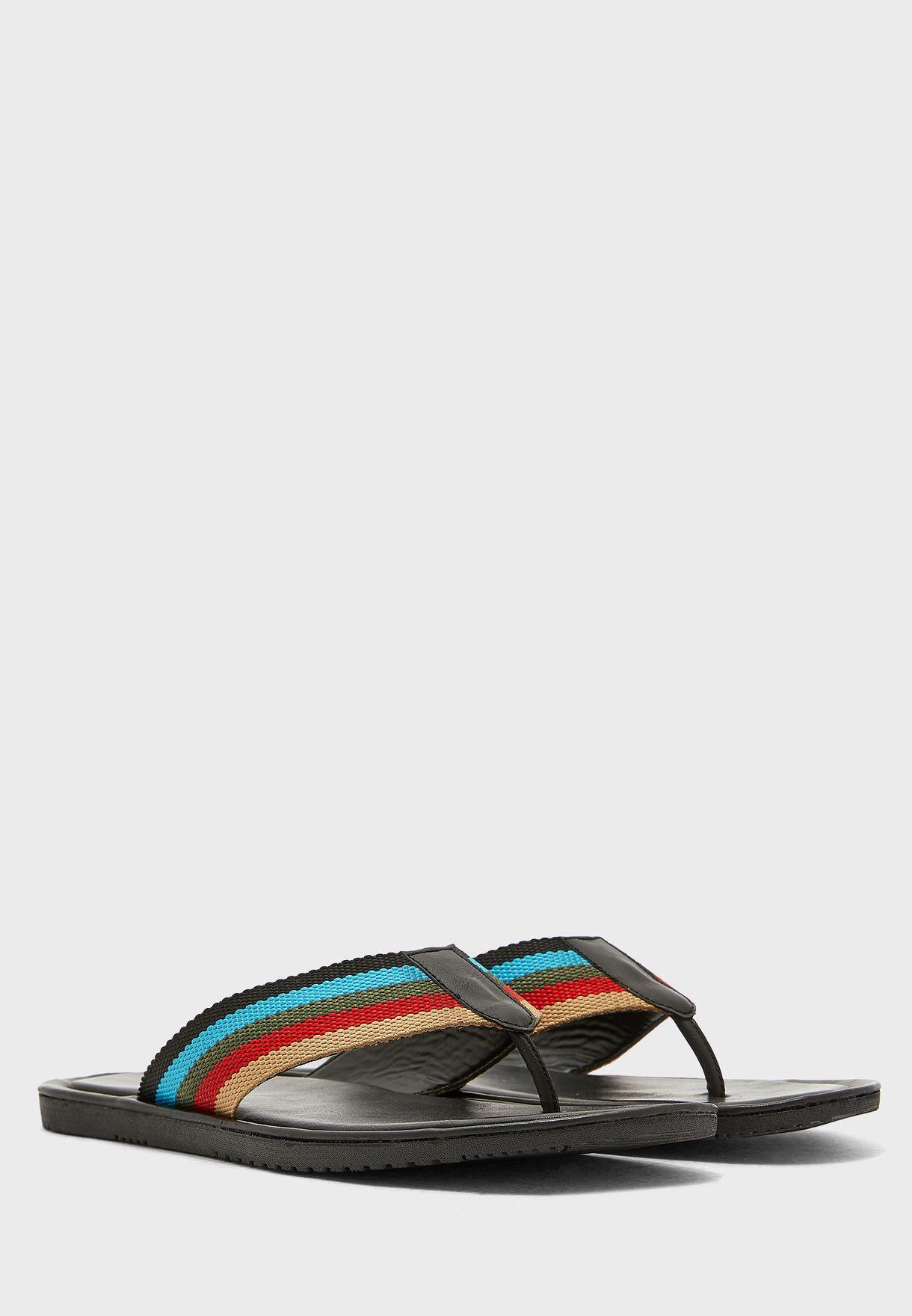 Webbing Thong Sandals