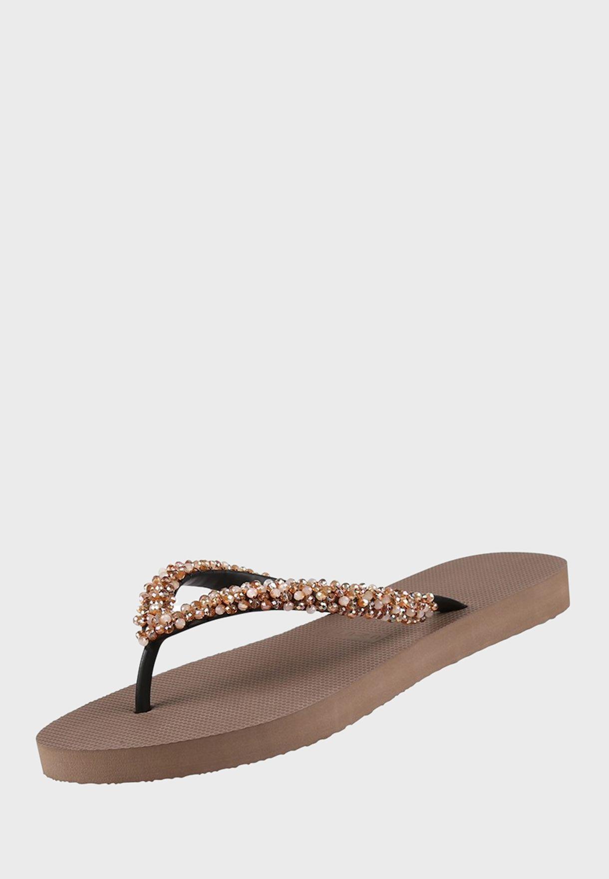 Pearl Detail Flip Flop