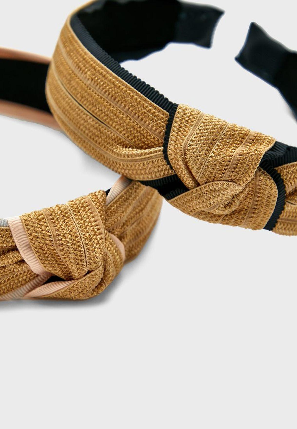 Multipack Knot Detail Headband