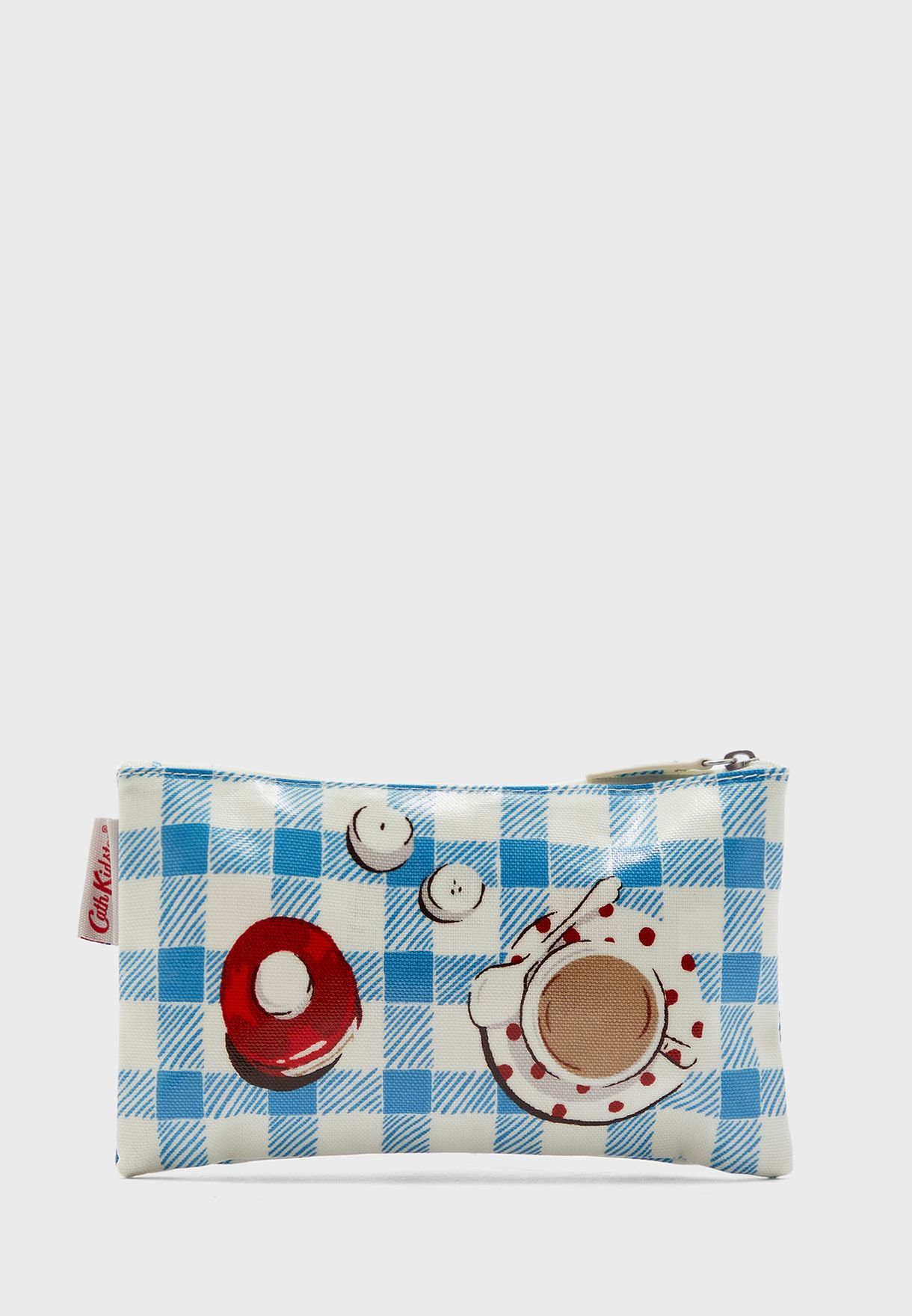 Checked Zip Detail Purse