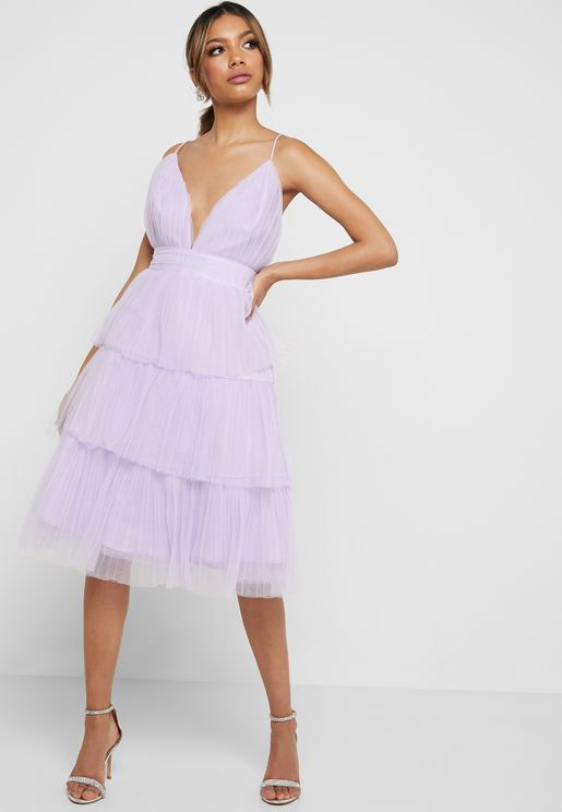 Layered Tulle Cami Dress