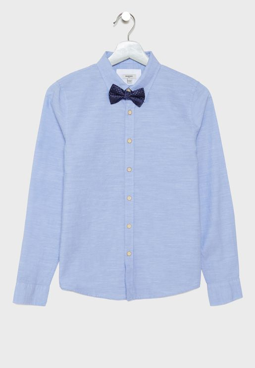 Kids Shirt with Bow Tie