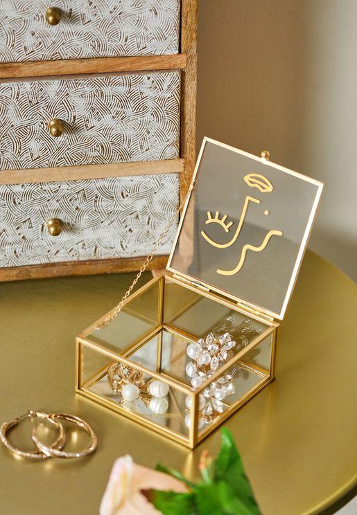 صندوق مجوهرات بطباعة وجه