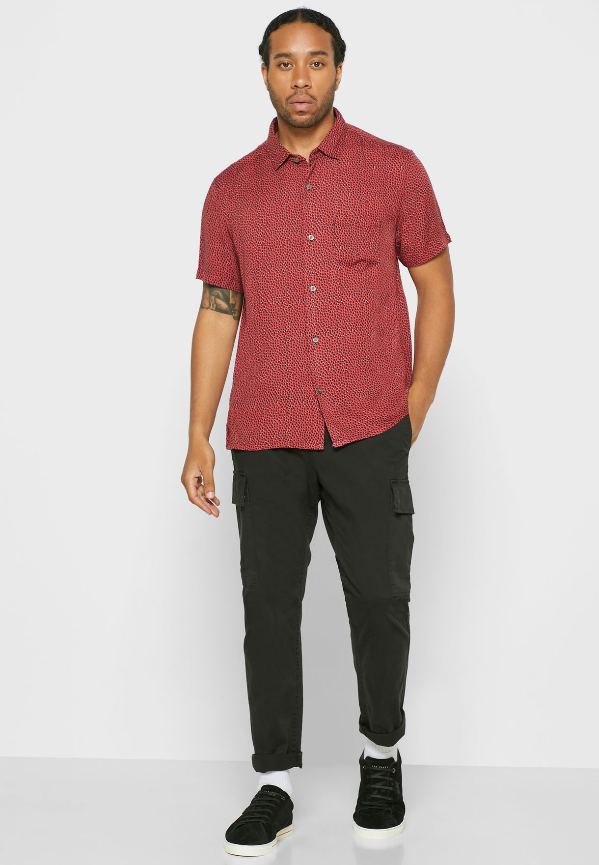 Trent Printed Regular Fit Shirt