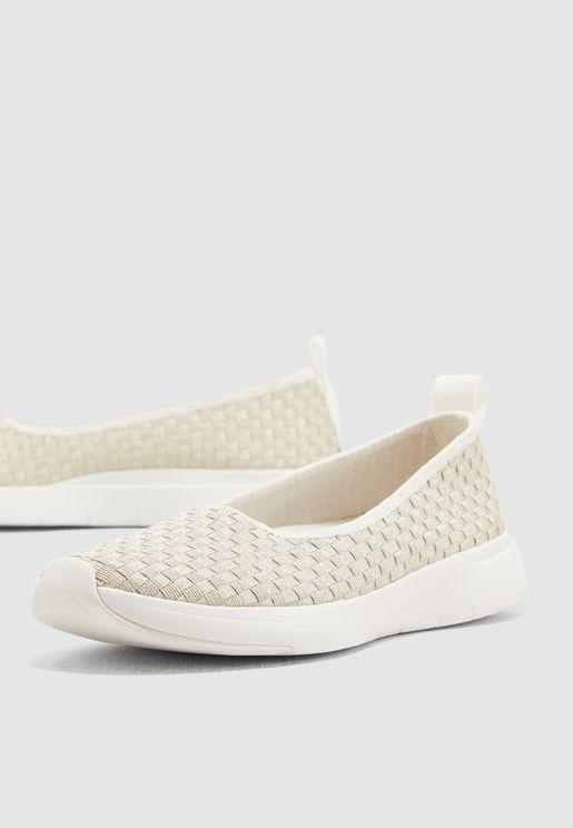 حذاء باليرينا محبوك