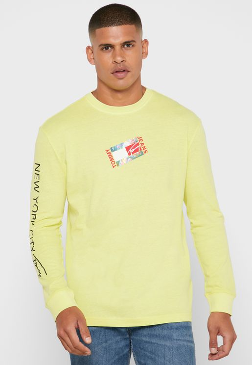 Flat Box Logo Crew Neck T-Shirt