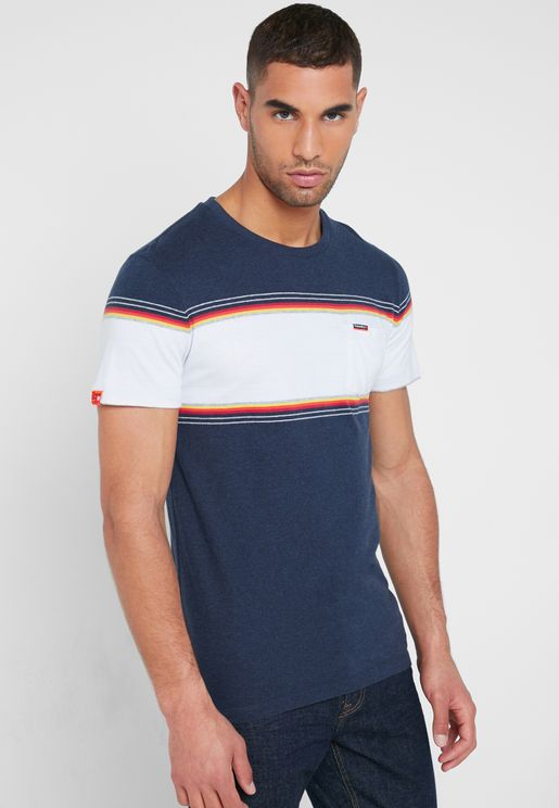 Orange Label Chestband Crew Neck T-Shirt