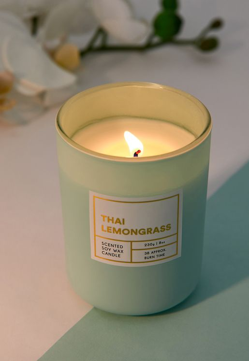 Modern Candle Thai Lemongrass Scent