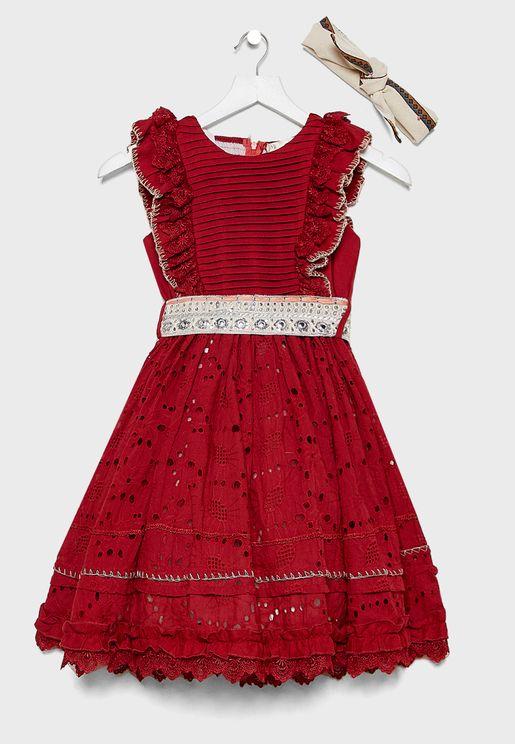 فستان بكشكش للاطفال