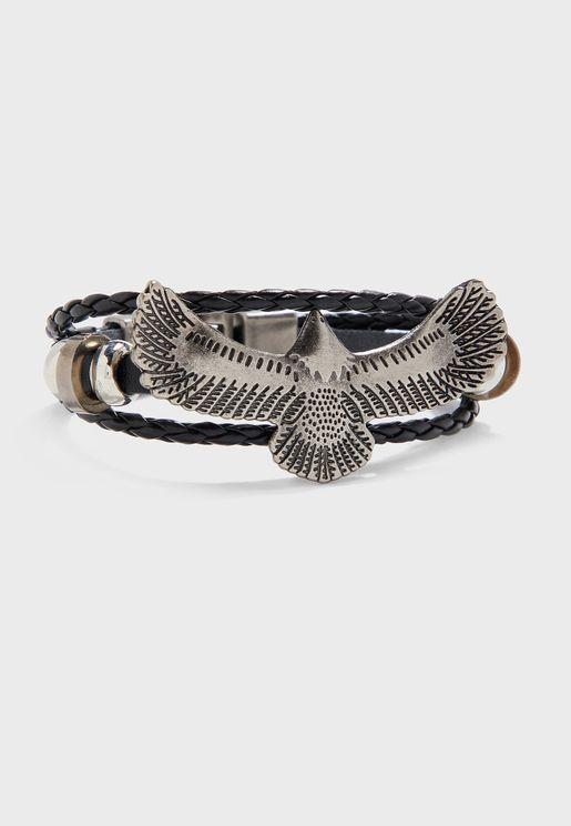 Eagle Stack Push Lock Bracelet
