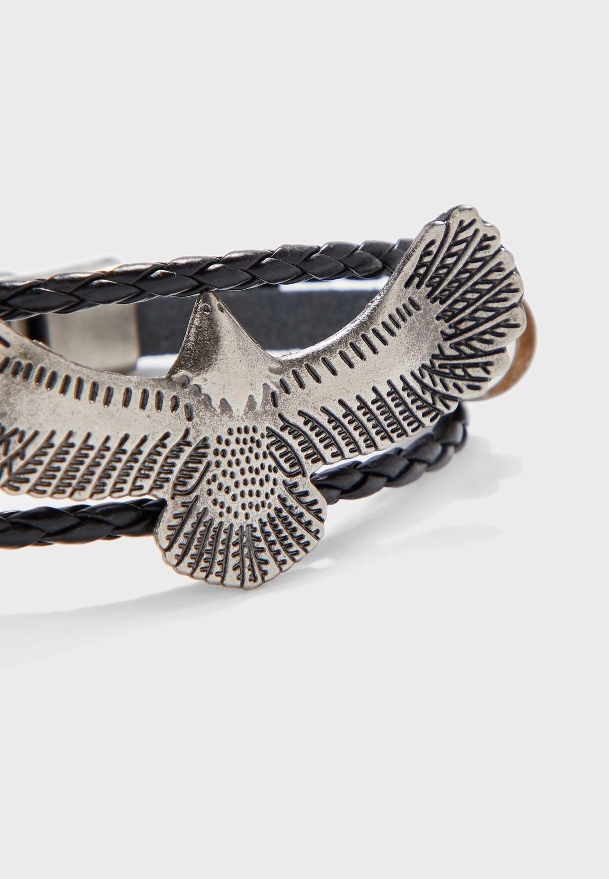 Eagle Stack Push Lock Bracelet