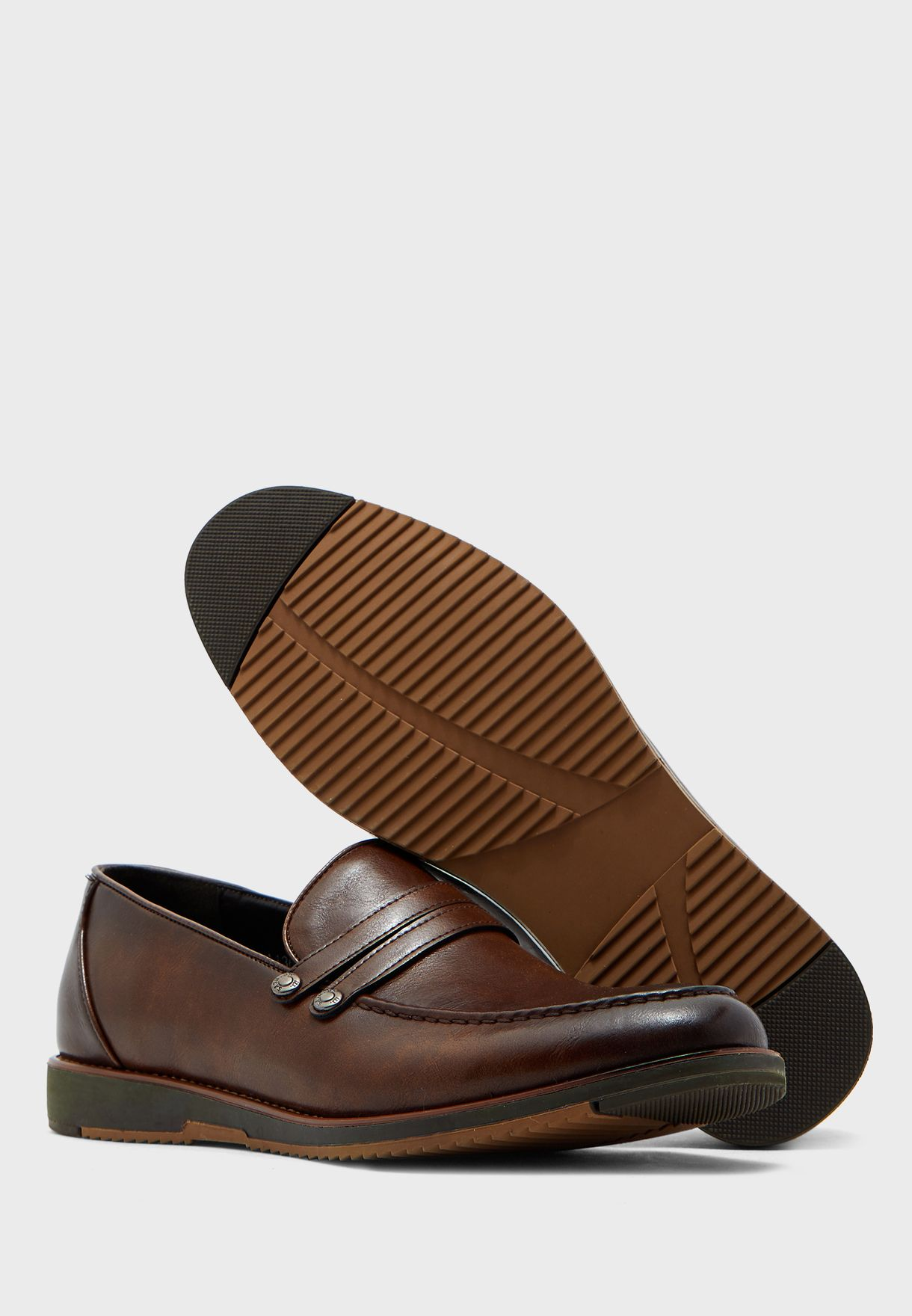 Faux Leather Evening Slip Ons
