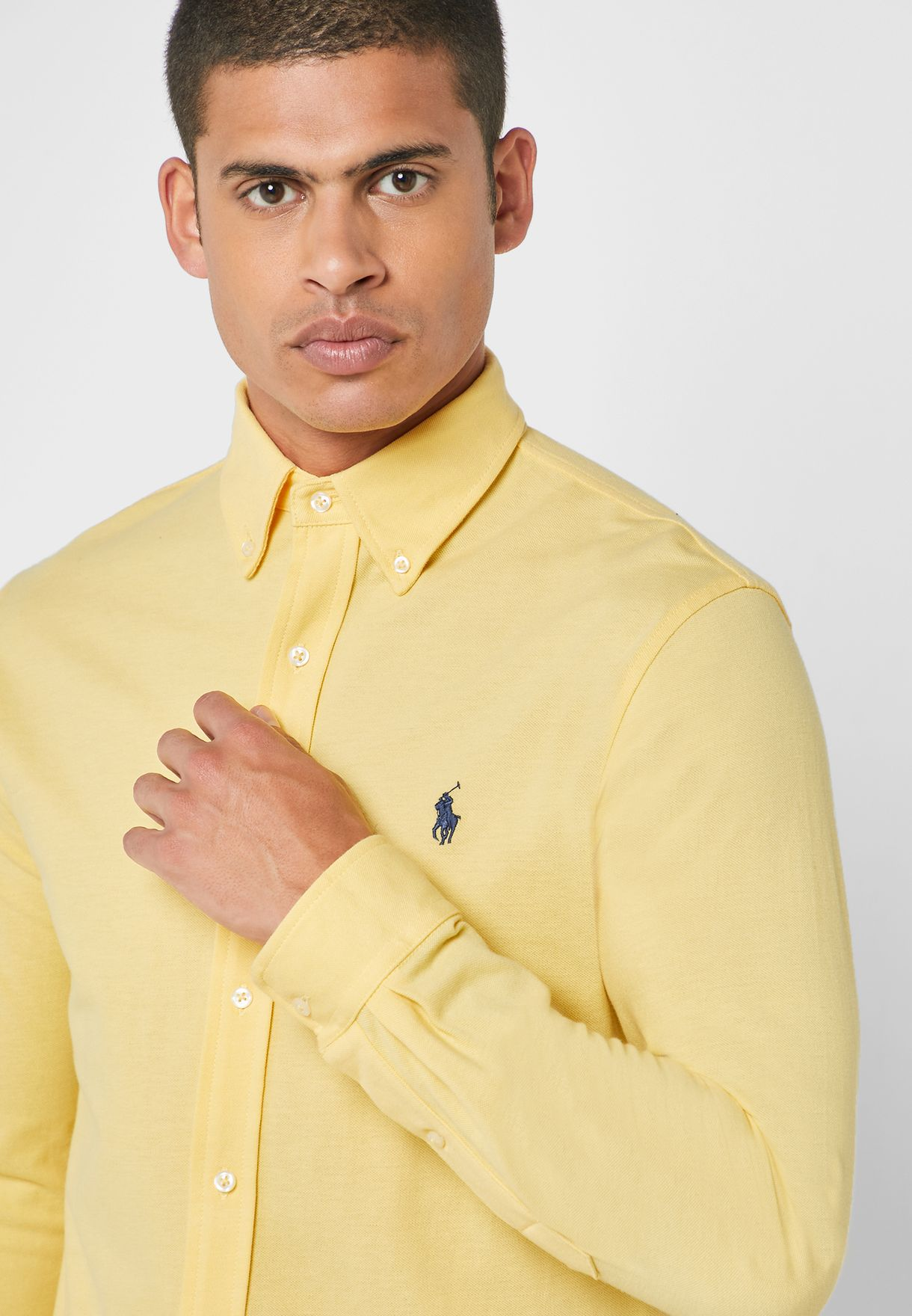 Chest Logo Slim Fit Shirt