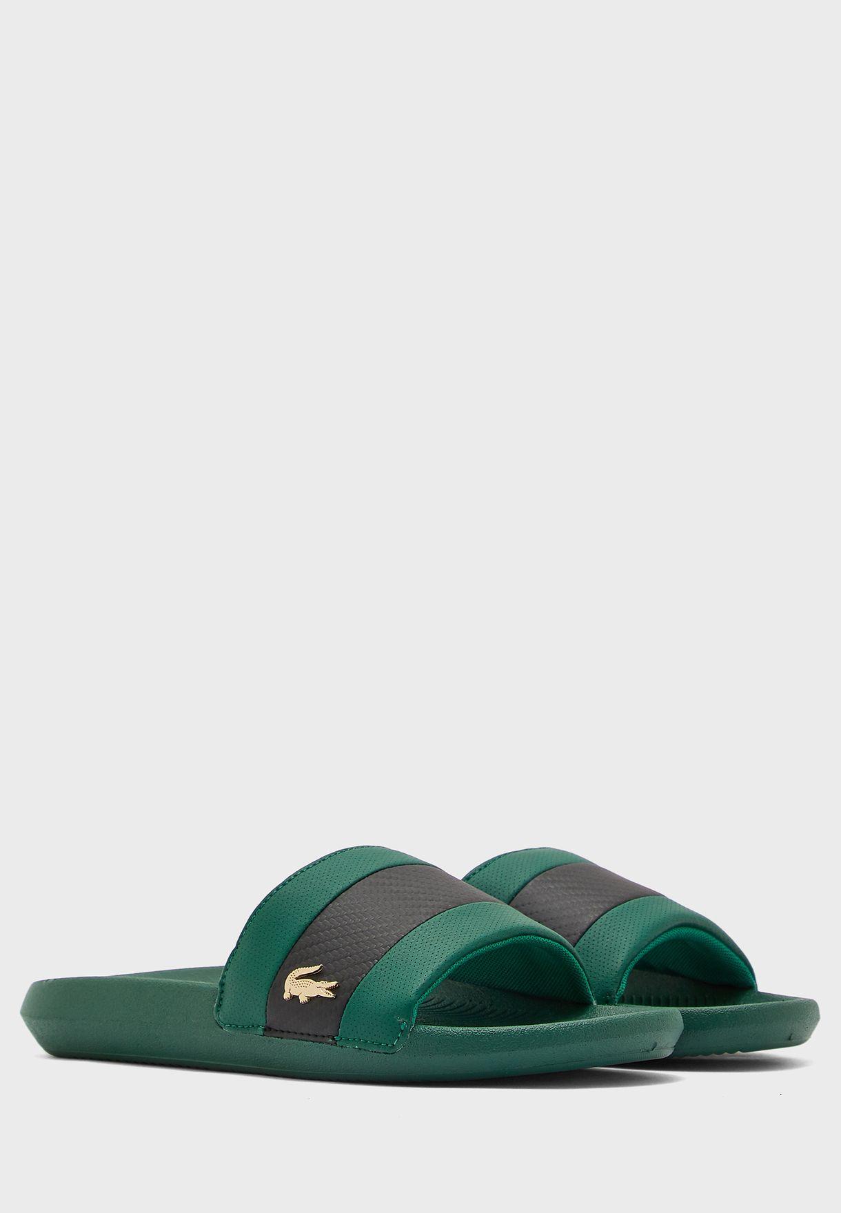Croco Slide Flat Sandal