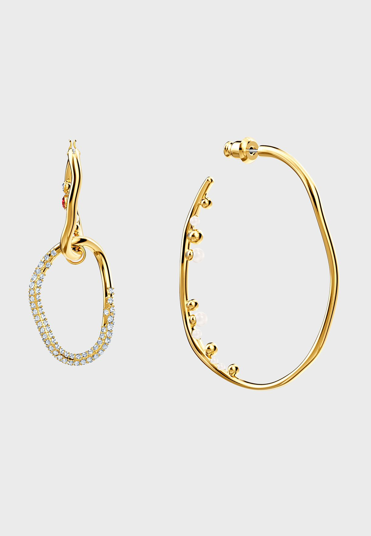 Shell Hoop Drop Earrings