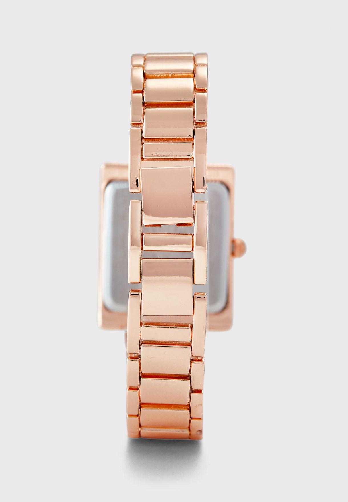 ساعة انالوج مزينة بكريستالات سواروفسكي  AK3128MPRG