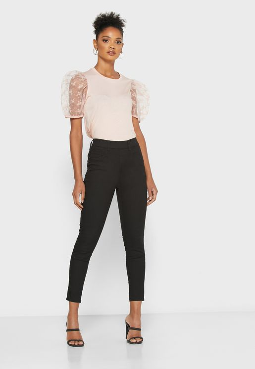 High Waist Skinny Jeaggings