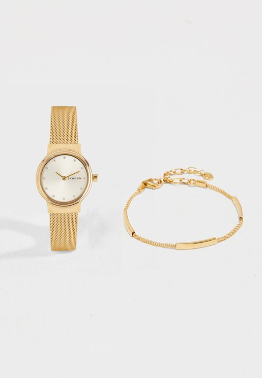 SKW1108 Freja Dress Watch+Bracelet Set