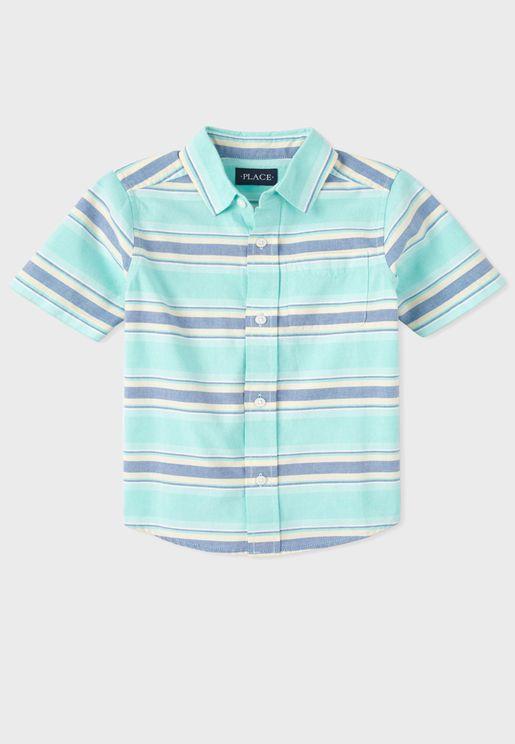 Kids Stripped Button Detail Shirt