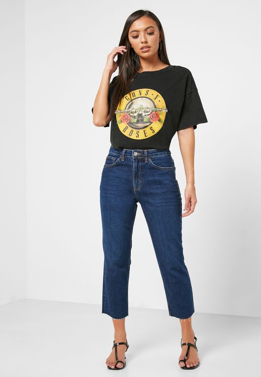 Moto High Rise Straight Jeans