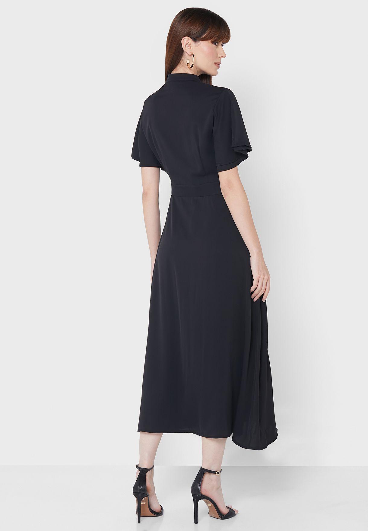 فستان باكمام طبقات