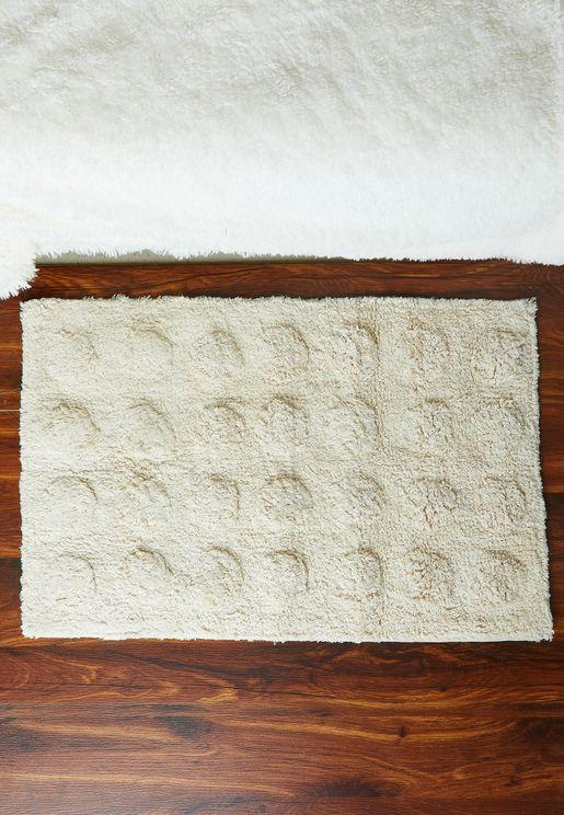 Small Sunblink Cream Rug 45cm x 70cm