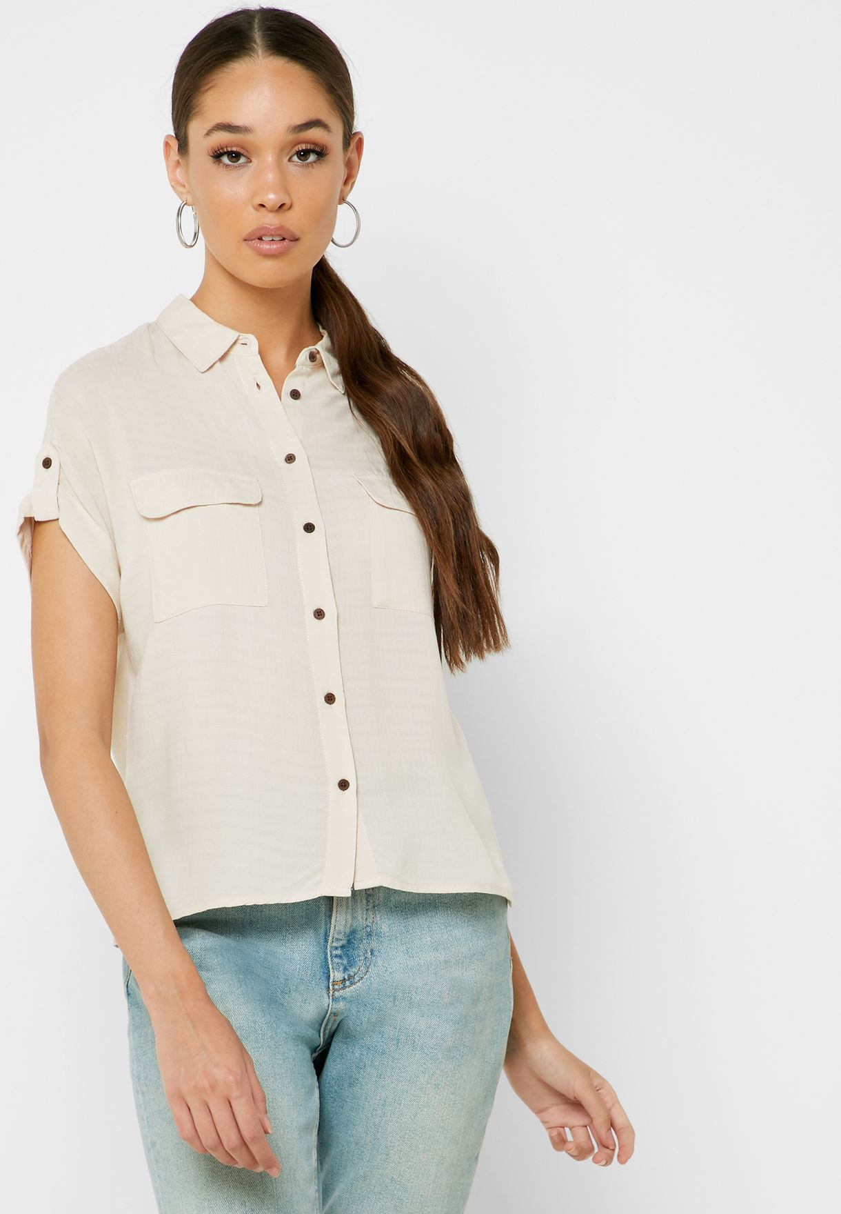 Front Pocket Short Sleeve Shirt