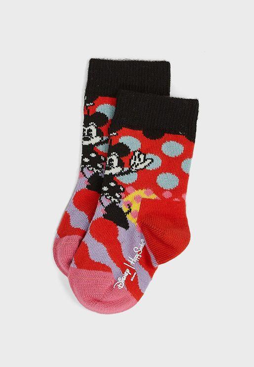 Kids Disney Minnie Time Crew Socks