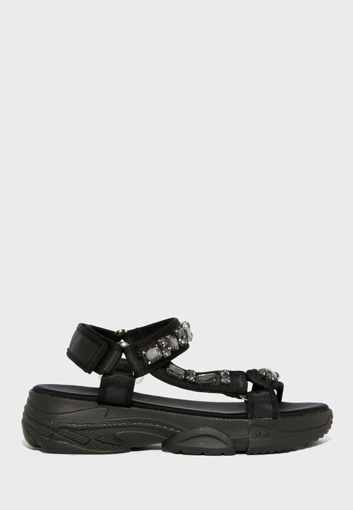 Ankle Strap Low Heel Sandal
