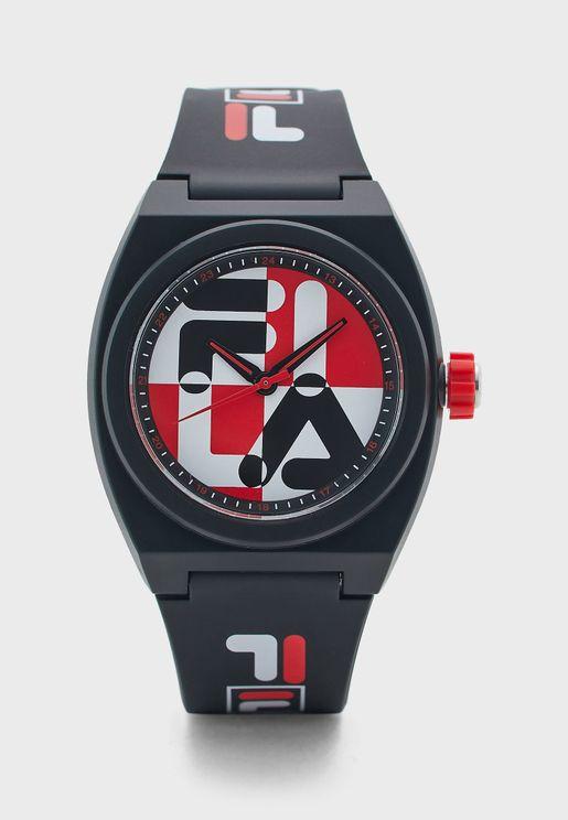 ساعة بحزام مطبع
