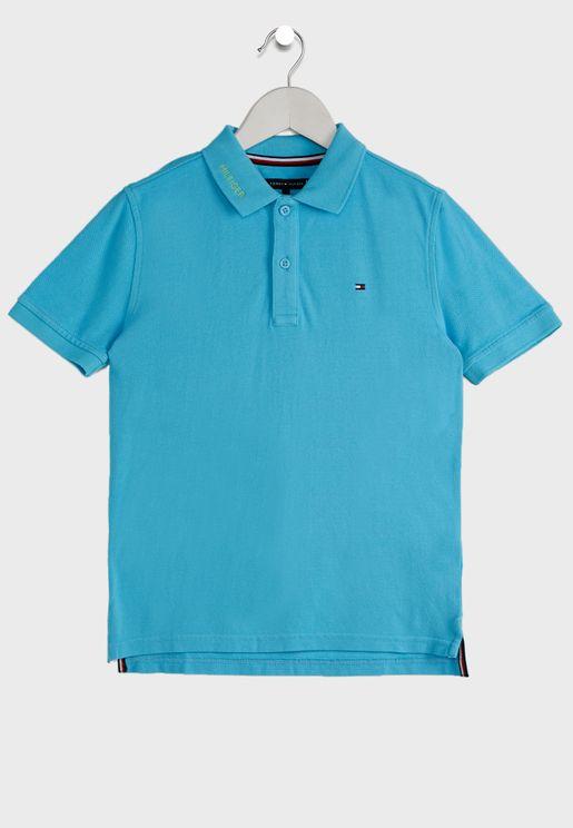 Teen Dyed Logo Polo Shirt