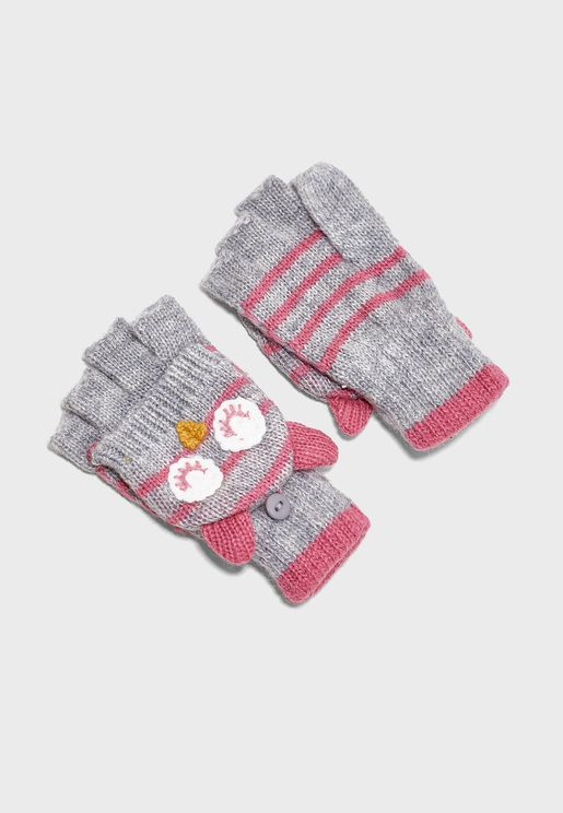 Kids Owl Gloves