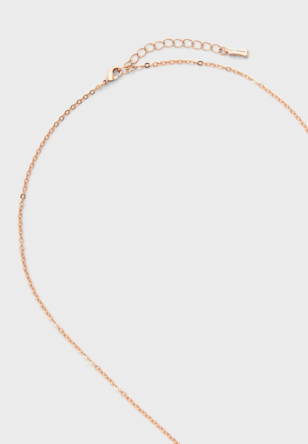 Angella Angel Leaf Pendant Necklace
