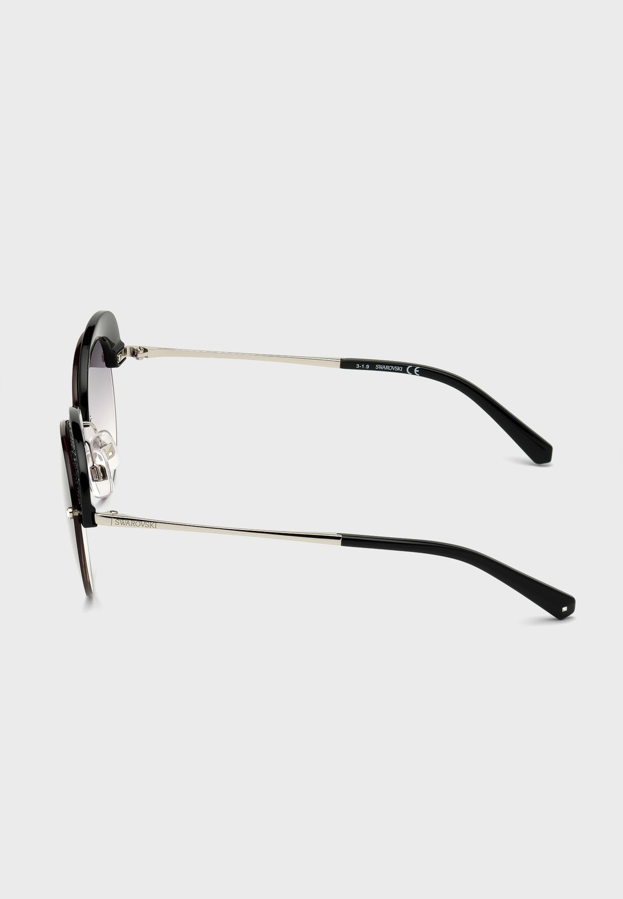 Gradient Smoke Oversized Sunglasses