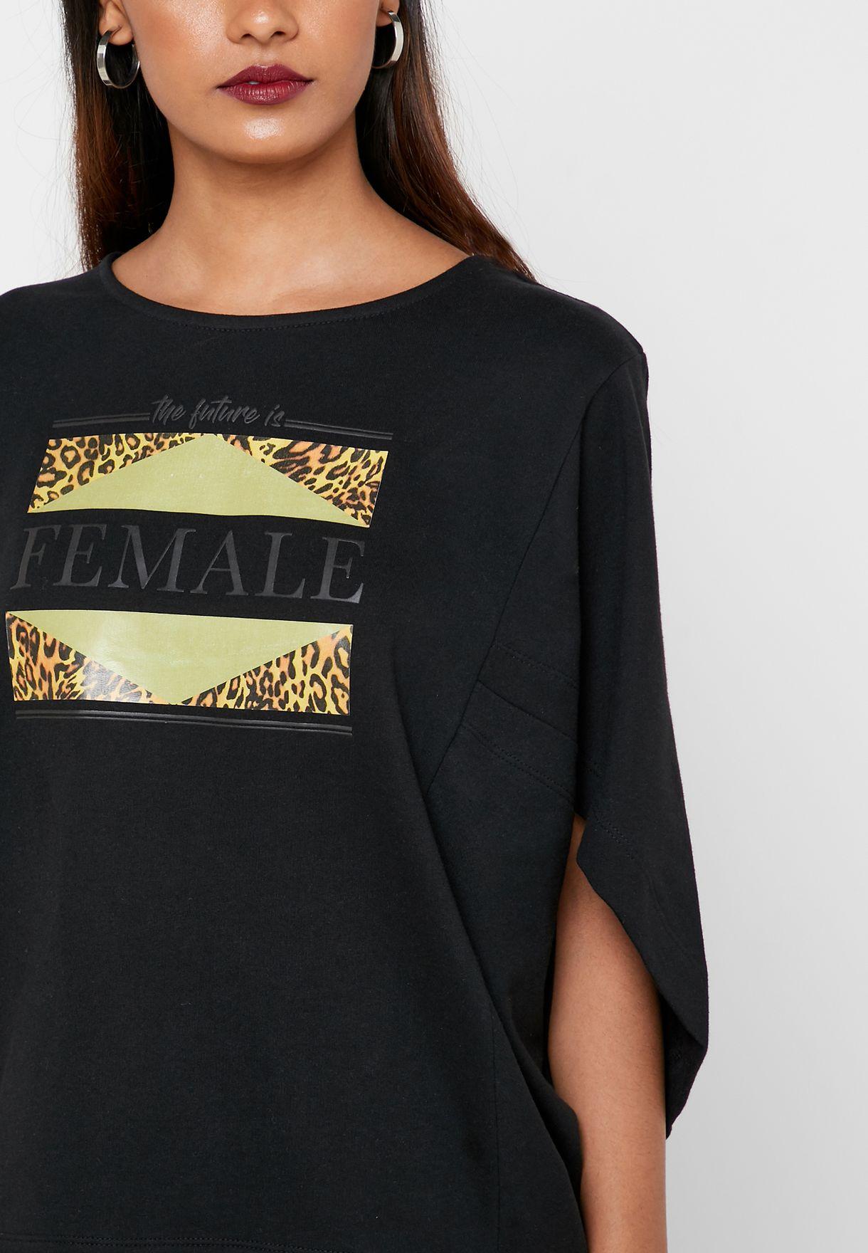 Graphic Wide Sleeve Sweatshirt