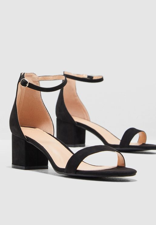 8fc62791c24a Block Heel Barely There Sandal