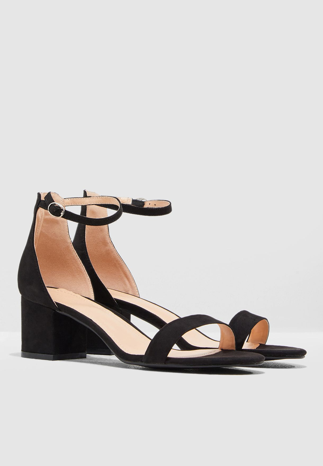 Block Heel Barely There Sandal
