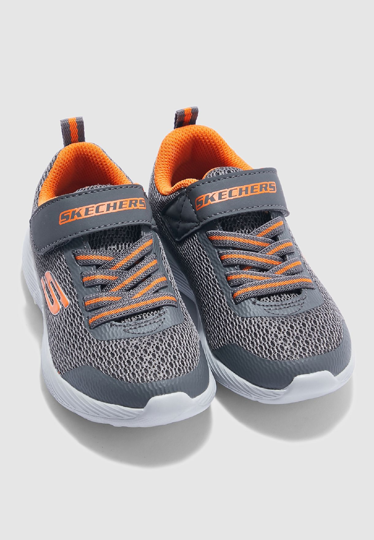 Shop Skechers grey Kids Dyna-Lite
