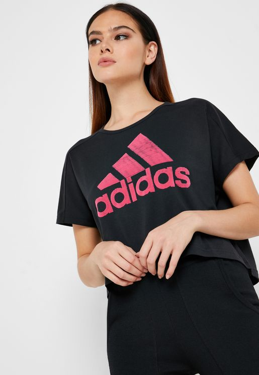 adidas Training Don't Rest Colourblock Strap Bra In Burgundy