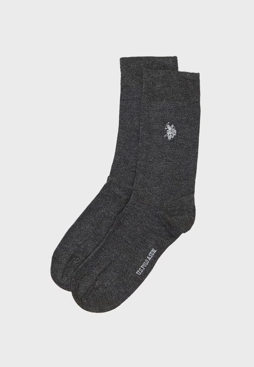 Logo Print Crew Socks