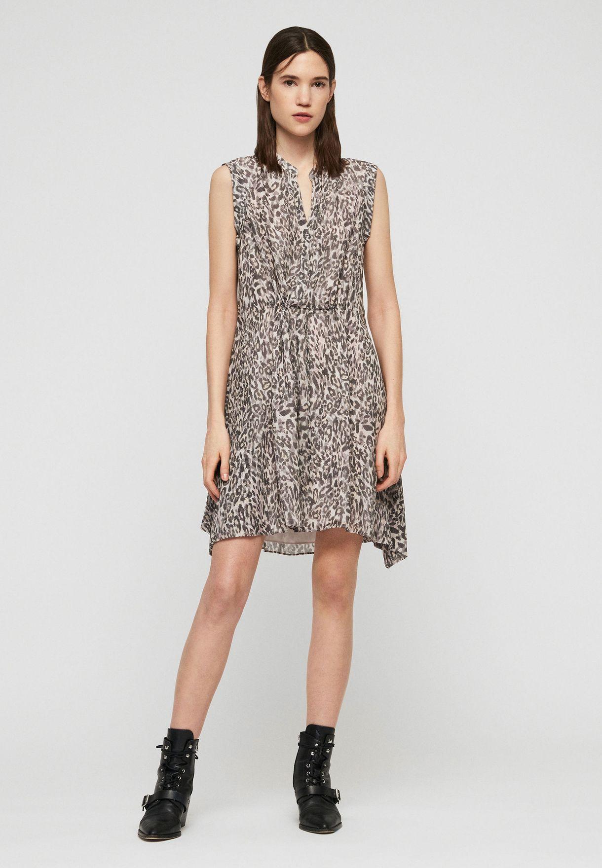 Clari Animal Print Dress