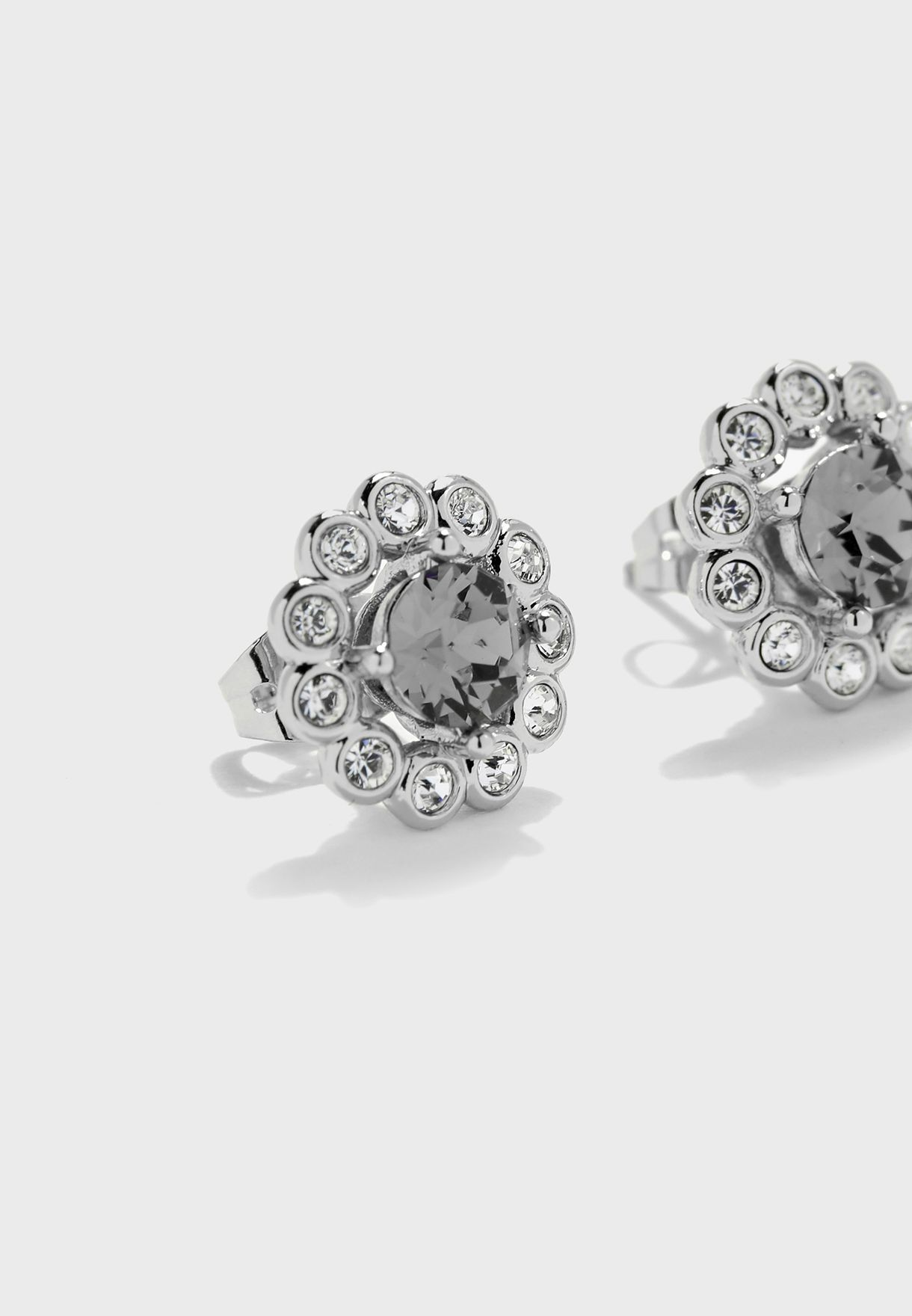 Lralyi Daisy Crystal Stud Earrings