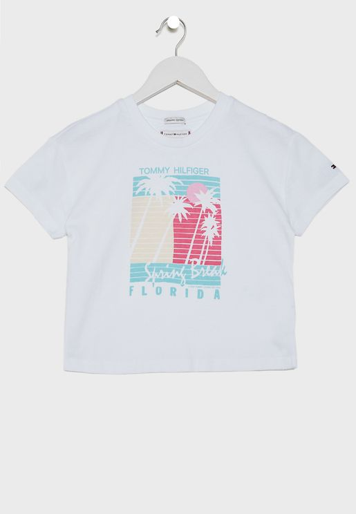 Teen Palm Print T-Shirt