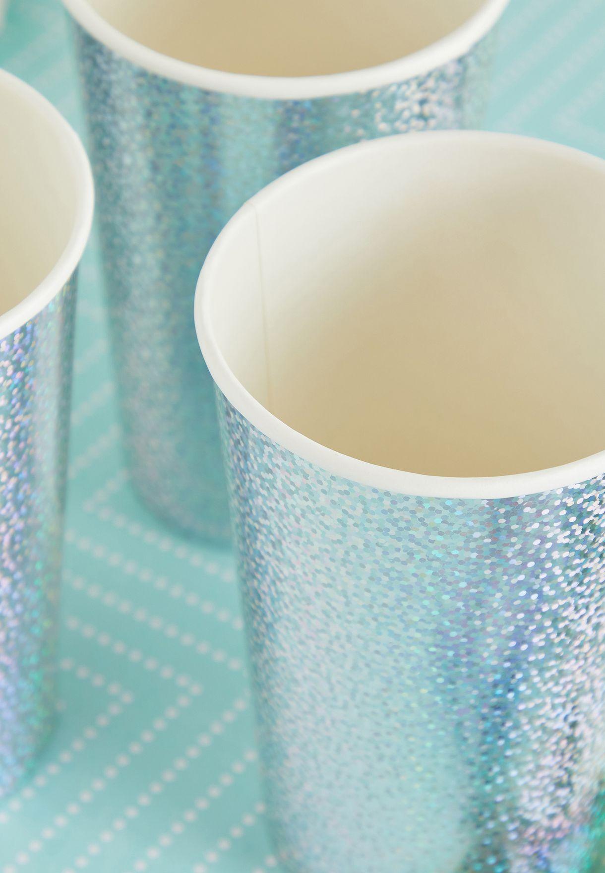 Silver Sparkle Highball Cups