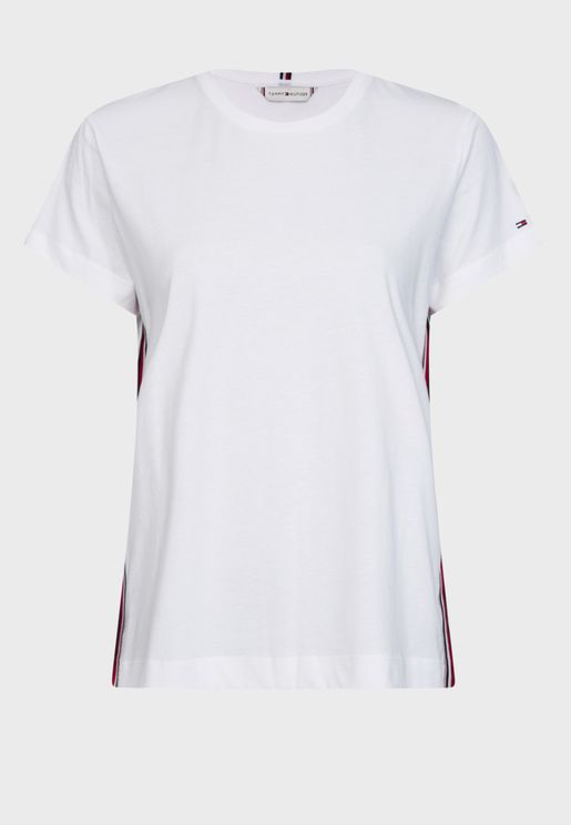 Thea Side Striped Crew Neck T-Shirt